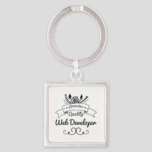 Genuine Quality Web Developer Square Keychain