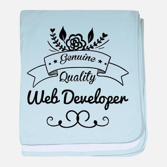 Genuine Quality Web Developer baby blanket