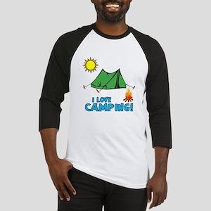 I love camping-3-Blue Baseball Jersey