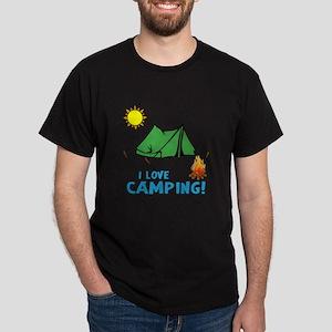 I Love Camping-3-Blue T-Shirt