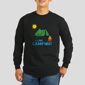 I love camping-3-Blue Long Sleeve T-Shirt