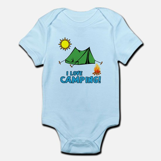 I love camping-3-Blue Body Suit