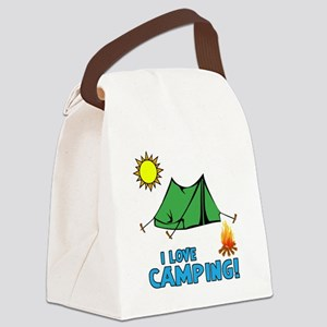 I love camping-3-Blue Canvas Lunch Bag