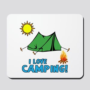 I Love Camping-3-Blue Mousepad