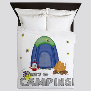 Its the weekend-lets go camping-2 Queen Duvet