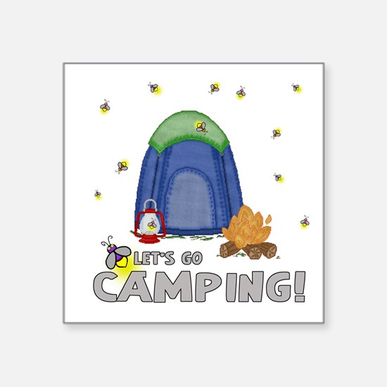 Its The Weekend-Lets Go Camping-2 Sticker