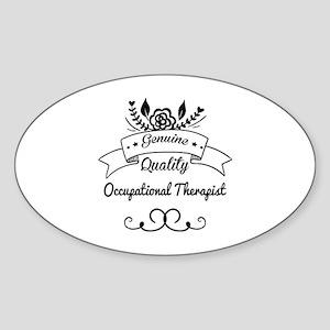 Genuine Quality Occupational Therap Sticker (Oval)