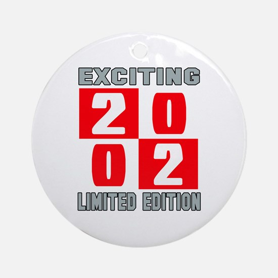 Exciting 2002 Limited Edition Round Ornament