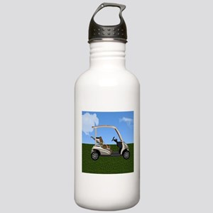 Golf Cart on Grass Stainless Water Bottle 1.0L