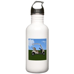 Golf Cart Water Bottles - CafePress Leprechaun In A Golf Cart on maleficent golf cart, unicorn golf cart, ghostbusters golf cart, predator golf cart, gnome golf cart,
