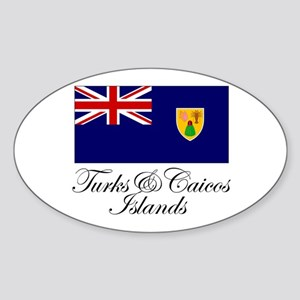 The Turks and Caicos Islands Oval Sticker
