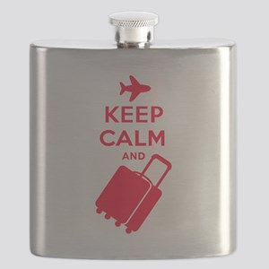 Keep Calm and Carry on Luggage Flask