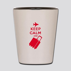 Keep Calm and Carry on Luggage Shot Glass