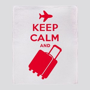 Keep Calm and Carry on Luggage Throw Blanket