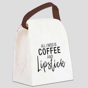 Coffee+Lipstick Canvas Lunch Bag