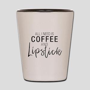 Coffee+Lipstick Shot Glass