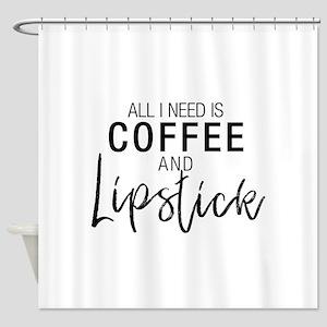 Coffee+Lipstick Shower Curtain