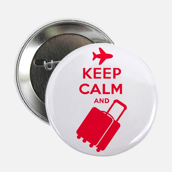 """Keep Calm and Carry on Luggage 2.25"""" Button (10 pa"""