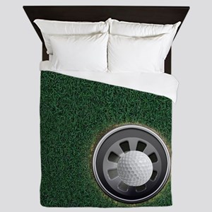 Golf Cup and Ball Queen Duvet