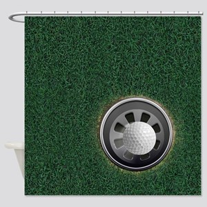 Golf Cup and Ball Shower Curtain