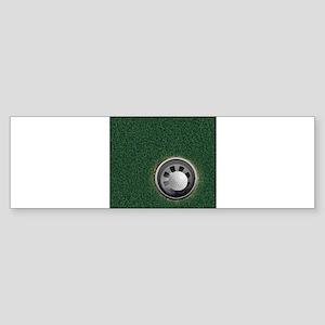 Golf Cup and Ball Bumper Sticker