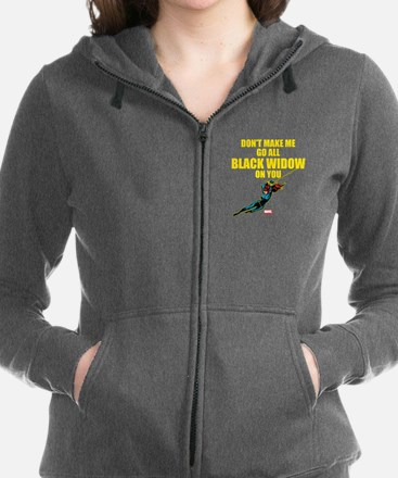Black Widow Mother's Day Women's Zip Hoodie