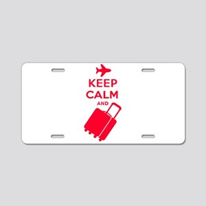 Keep Calm and Carry on Luggage Aluminum License Pl