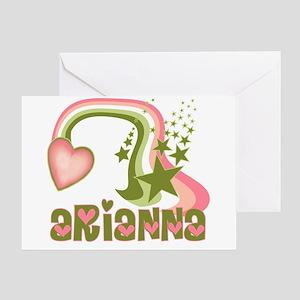 Rainbows & Stars Arianna Personalized Greeting Car