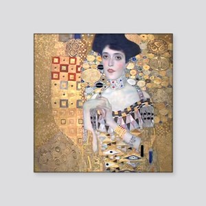 "Klimt The Lady In Gold  Art Square Sticker 3"" x 3"""