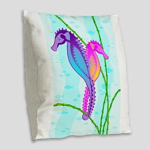 SeaHorse Sea-lebrities Burlap Throw Pillow