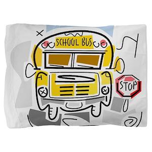 j0410911_school bus Pillow Sham