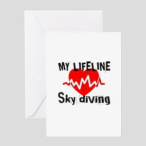 My Lifeline Sky Diving Greeting Card