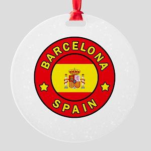 Barcelona Round Ornament