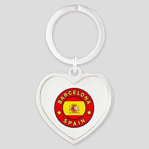 Barcelona Heart Keychain