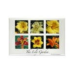 The Lily Garden Rectangle Magnet