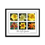 The Lily Garden Framed Panel Print