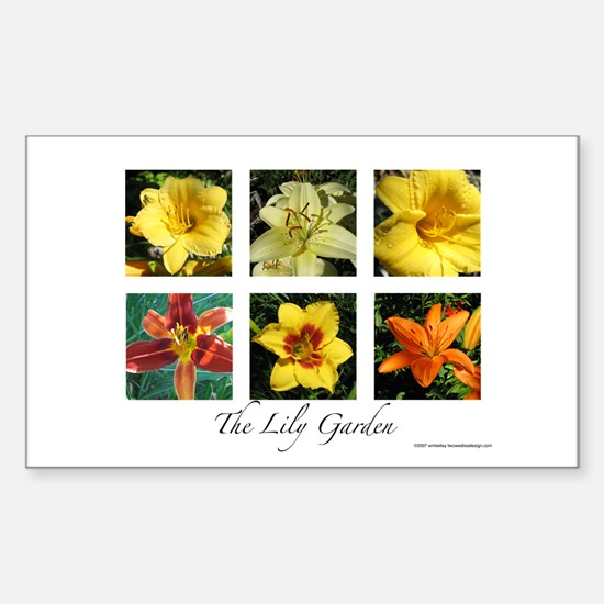 The Lily Garden Sticker (Rectangle)