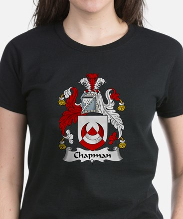 Chapman Family Crest  Women's Dark T-Shirt