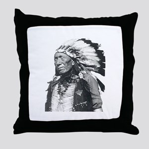 Black Elk Throw Pillow