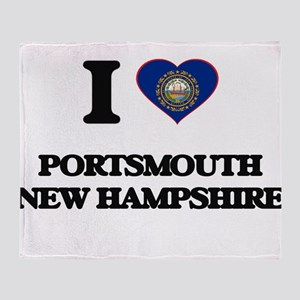 I love Portsmouth New Hampshire Throw Blanket