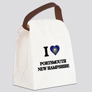 I love Portsmouth New Hampshire Canvas Lunch Bag
