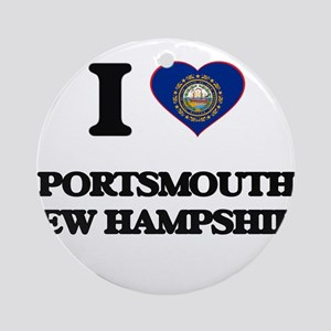 I love Portsmouth New Hampshire Ornament (Round)
