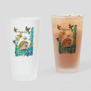 Hedgehog Queen Drinking Glass
