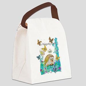 Hedgehog Queen Canvas Lunch Bag