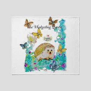 Hedgehog Queen Throw Blanket