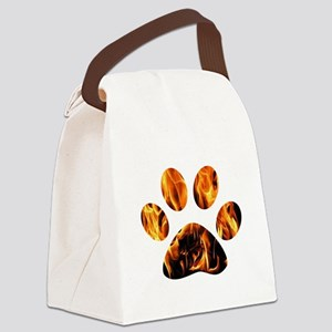 PAWPRINT ON FIRE Canvas Lunch Bag