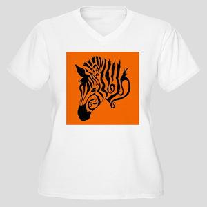 ZEBRA!! Women's Plus Size V-Neck T-Shirt