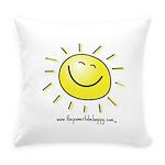 Smily Face Sun Everyday Pillow