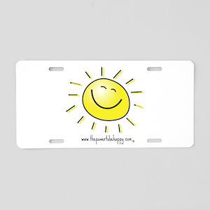 Happy Face Aluminum License Plate