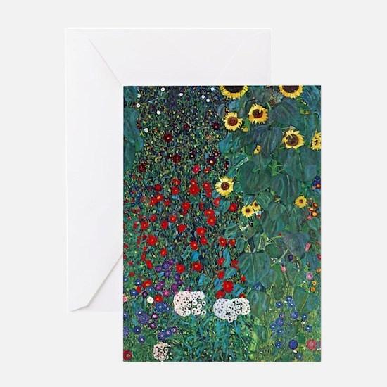 Farmergarden Sunflower by Klimt Greeting Cards